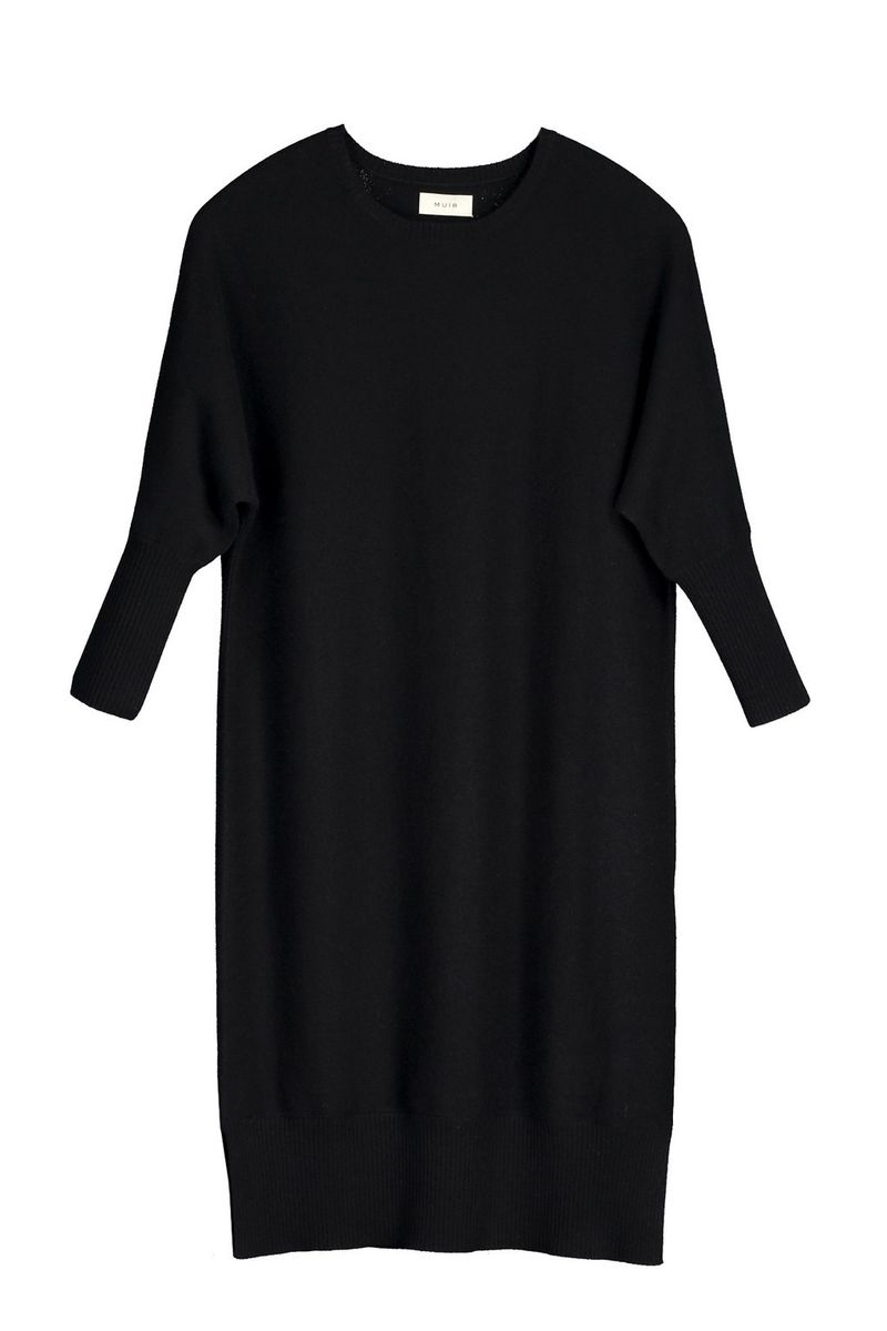Balmuir Vera Knit Dress Musta